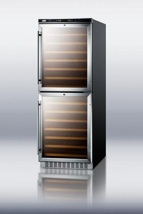 "Summit SWC1875 23.63"" Built-In and Freestanding Wine Cooler 