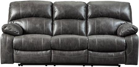 Signature Design By Ashley Dunwell Faux Leather Reclining Sofa