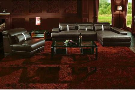 VIG Furniture VGBNSBO3921  Sofa and Chaise Leather Match Sofa