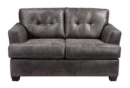 Milo Italia Brooklynn MI-6925BTMP Loveseat with Faux Leather, Low Melt Fiber Wrapped Over Foam and Contemporary Style