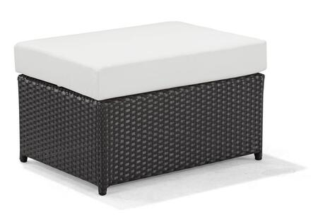 Zuo 701372 Ipanema Series Synthetic Weave w/ Aluminum Frame Armless Patio Benches