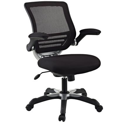 """Modway EEI-594 Edge 18"""" Office Chair with Modern Design, Adjustable Seat Height, Flip-Up Arms, Seat Tilt with Tension Control, and Sponge Seat Covered with Mesh Fabric"""