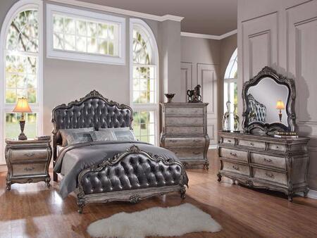 Acme Furniture 20537EK5PCSET Chantelle King Bedroom Sets