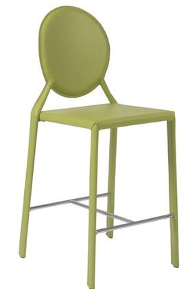 Euro Style 02481GRN Isabella Series Leather Upholstered Bar Stool