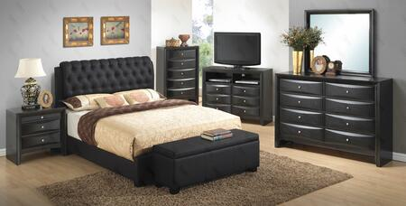 Glory Furniture G1500CQBUPDMNB G1500 Queen Bedroom Sets