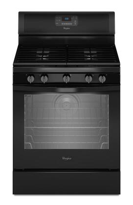 """Whirlpool WFG540H0 30"""" Freestanding Gas Range with 5.8 cu. ft. Capacity, 5 Sealed Burners, SpeedHeat Burner, AccuBake Temperature Management System, and AccuSimmer Burner in"""
