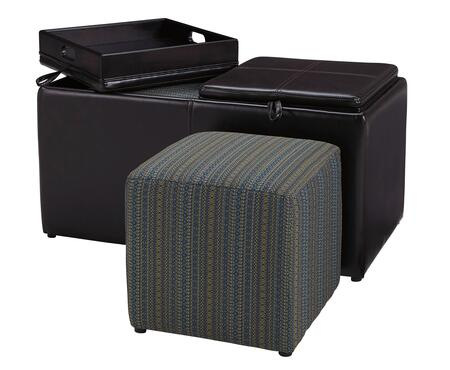 Ottoman with Cube Ottoman Included