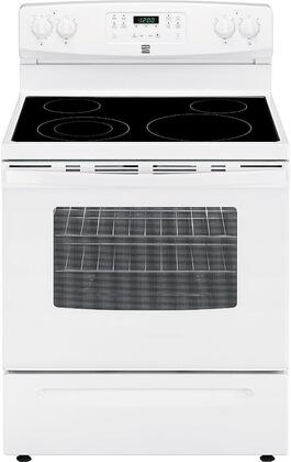 """Kenmore 22-9417 30"""" Freestanding Electric Range with 5.3 cu. ft. Oven Capacity, 4 Elements, Self Cleaning Oven and Storage Drawer in"""