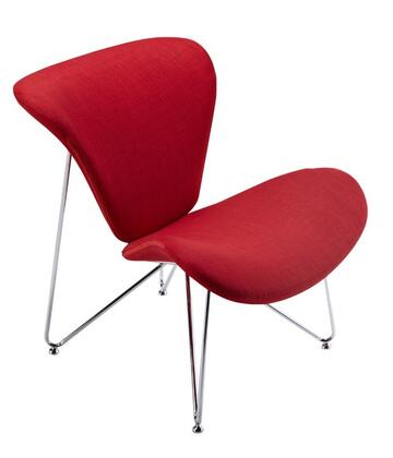 VIG Furniture VGOBTY105RED Modrest Decatur Series Armless Fabric Metal Frame Accent Chair