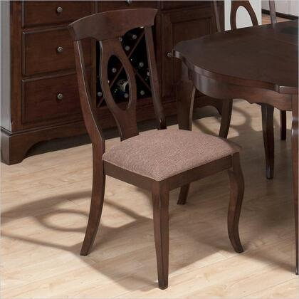 Jofran 369563KD Traditional Fabric Wood Frame Dining Room Chair