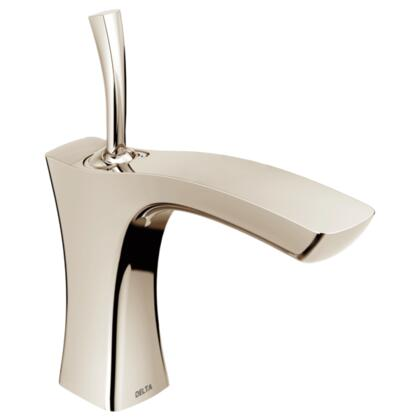 Tesla  552LF-PNLPU Delta Tesla: Single Handle Lavatory Faucet - Less Pop Up in Polished Nickel