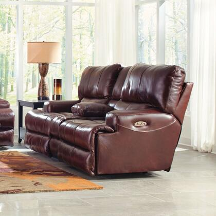 Catnapper 4589128319308319 Wembley Series Leather Reclining with Metal Frame Loveseat