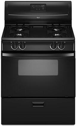 "Whirlpool WFG114SWB 30"" Gas Freestanding Range with Sealed Burner Cooktop, 4.4 cu. ft. Primary Oven Capacity, Broiler in Black"