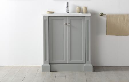 """Legion Furniture WH7130 30"""" Sink Vanity with 2 Doors, Ceramic Sink and 1 Pre-Drilled Single Faucet Hole in"""