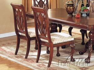 Acme Furniture 02107 MamChester Series Transitional Fabric Wood Frame Dining Room Chair