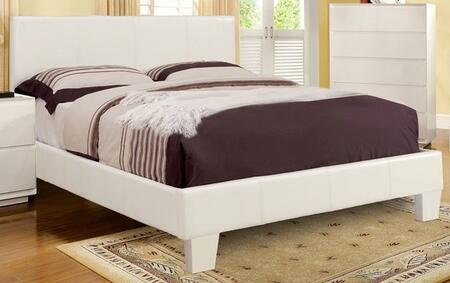 Furniture of America CM7008WHCKBED Winn Park Series  California King Size Platform Bed