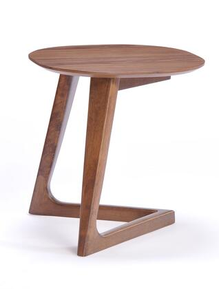 VIG Furniture VGMAMIT10962END Modrest Jett Series Modern Wood Round None Drawers End Table