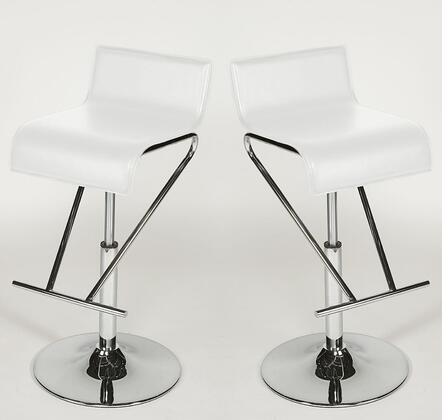 Chintaly 6122-AS- Adjustable Swivel Stool (Set of 2):