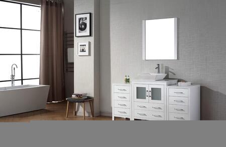Virtu USA KS70066SWH White Single Sink