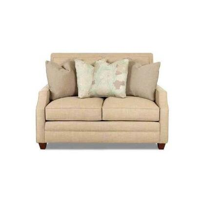 Klaussner K71000LS Serafina Series Fabric Stationary with Wood Frame Loveseat