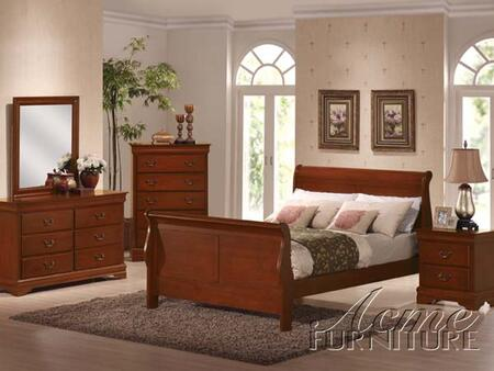 Acme Furniture 00384CK Louis Philippe Series  Sleigh Bed
