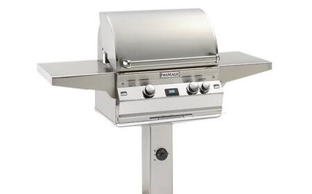 FireMagic A430S2L1NG6 Post Mount Grill, in Stainless Steel