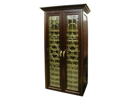 Vinotemp VINO-440TDBON 350 Bottle Wine Cabinet with Two Glass Doors,
