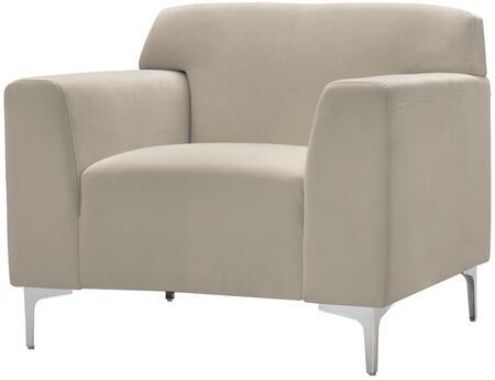 Glory Furniture G332C Velvet Armchair in Beige