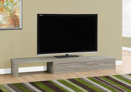 "Monarch I26X 60"" TV Stand with 2 Drawers, Wood Construction and Asymmetrical Design"