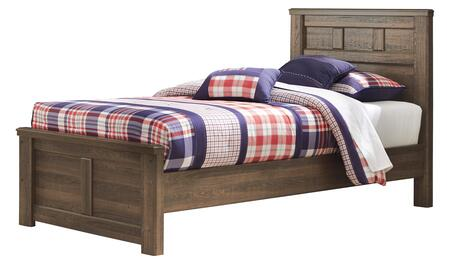 Milo Italia BR-371PANELBED Reeves Collection X Size Panel Bed in Brown