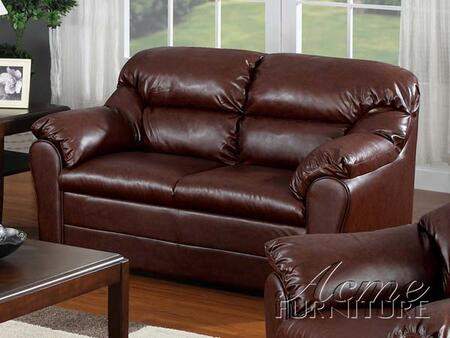 Acme Furniture 15151 Connell Series Leather Match  with Wood Frame Loveseat