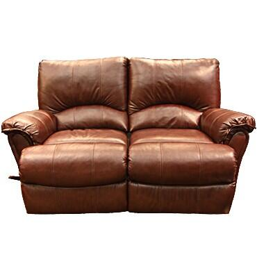 Lane Furniture 20424174597533 Alpine Series Leather Reclining with Wood Frame Loveseat