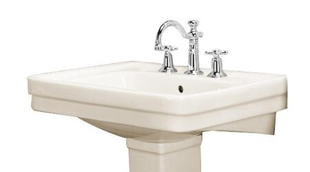 "Barclay B/3-64 Sussex 550 Basin Only, with Pre-drilled Faucet Holes, 8"" Basin Depth, and Vitreous China Construction"