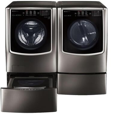 LG Signature 801242 Black Stainless Steel Washer and Dryer C