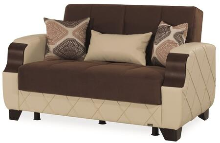 """Casamode Molina Collection MOLINA LOVE SEAT 57"""" Convertible Love Seat with Under Seat Storage, Tufted Detailing and"""