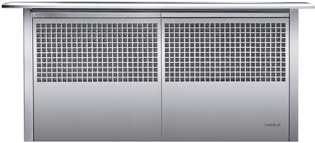 Wolf DD Downdraft Ventilation with Delay-off, Remote Control Operation, and Filter Clean Indicator, in Stainless Steel