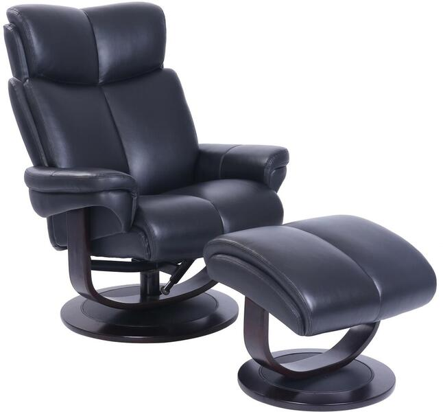 153287360199 - 34 Inch Pedestal Recliner and Ottoman